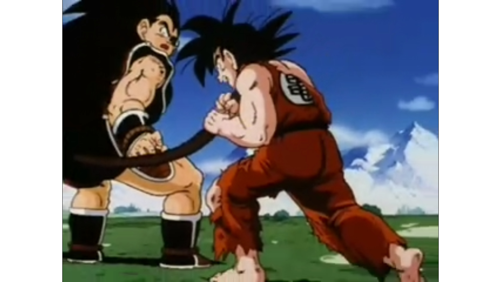 Dragon Ball Z Raditz and Goku