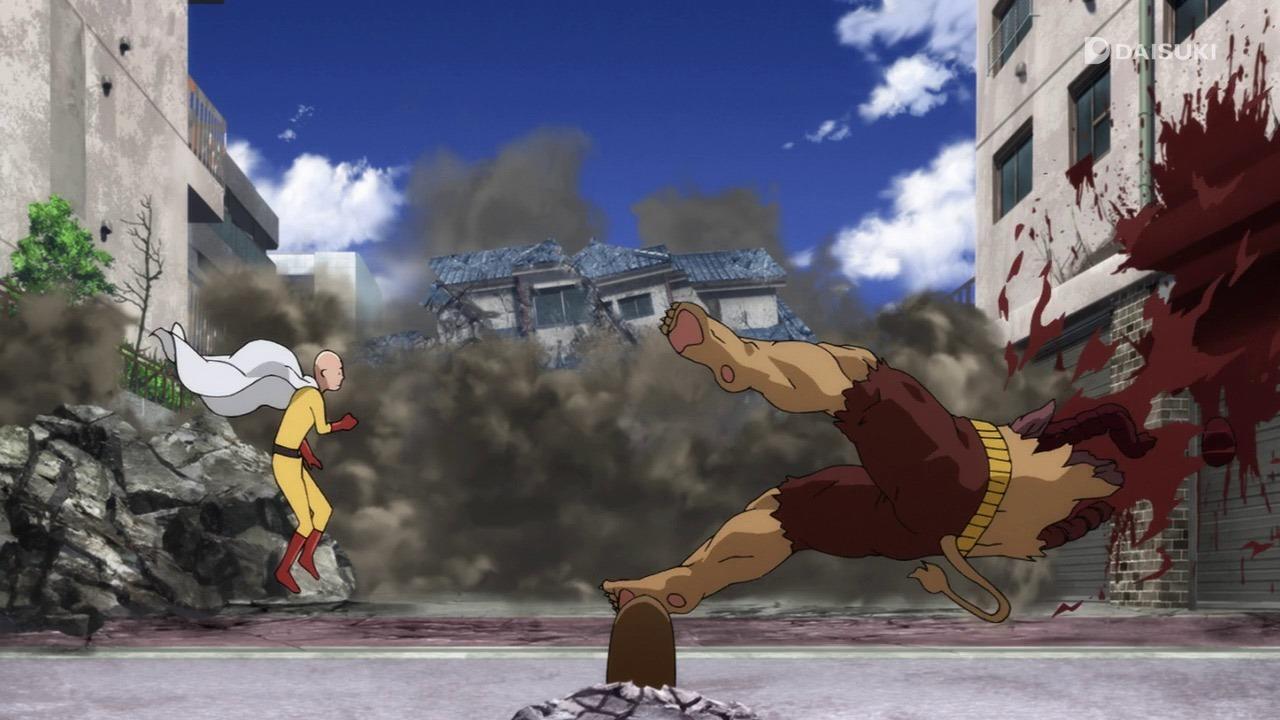 One Punch Man Saitama wrecks stuff