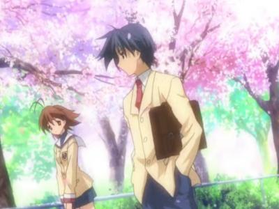 Clannad Nagisa Furukawa and Tomoya Okazaki