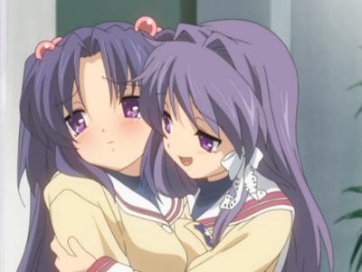 Clannad Kyou Fujibayashi and Kotomi Ichinose