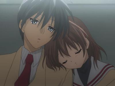 Clannad Tomoya Okazaki and Nagisa Furukawa