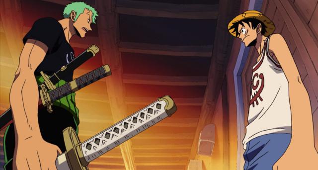 One Piece Luffy and Zoro
