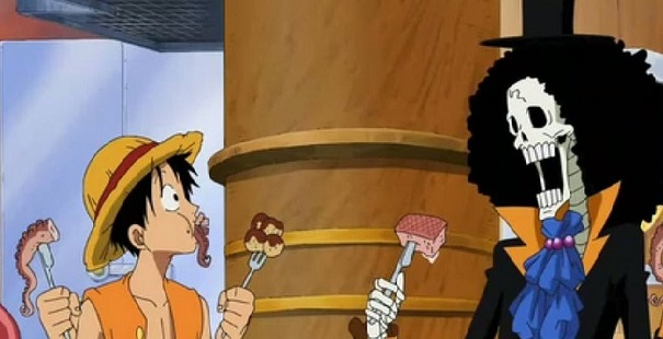 One Piece Luffy and Brook