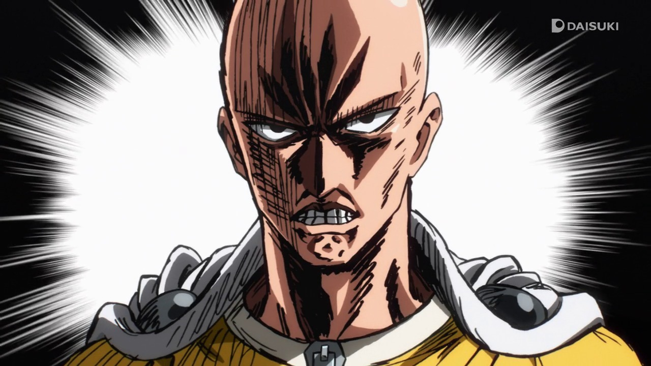 One Punch Man serious face