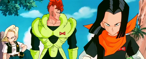 Dragon Ball Z sagas Android 16, Android 17, and Android 18 androids saga