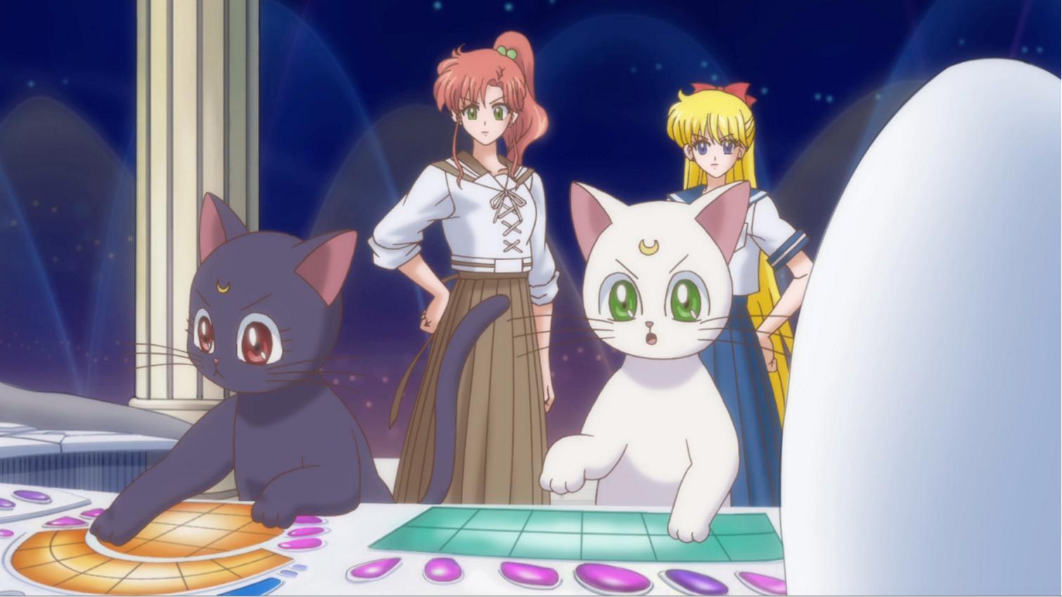 Sailor Moon Crystal Luna and Artemis