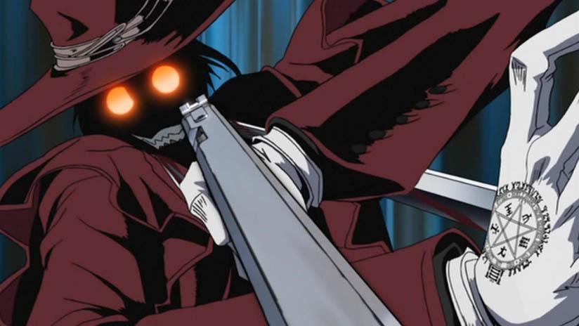 Hellsing Alucard vampire scary anime horror anime