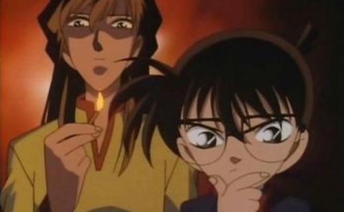 Detective Conan Asami Uchida and Conan Edogawa