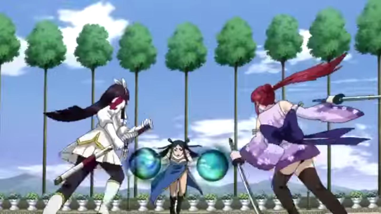 Fairy Tail Erza Scarlet Kagura Mikazuchi Minerva Orland