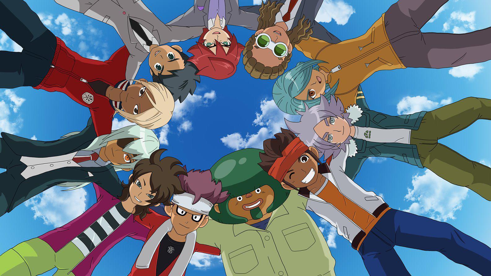 Inazuma Eleven Team huddle