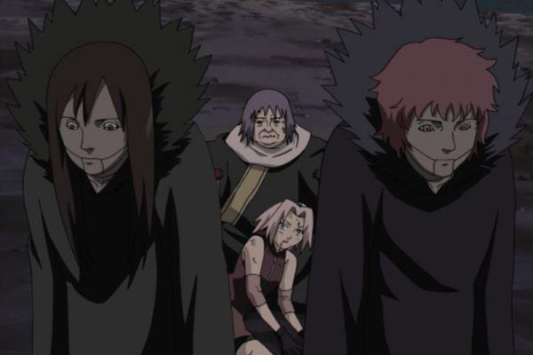 Naruto Shippuden_Sakura Haruno and Chiyo vs. Sasori