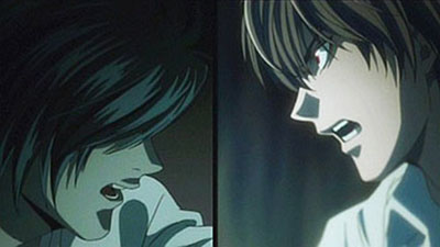 Death Note quotes I am justice Light and L