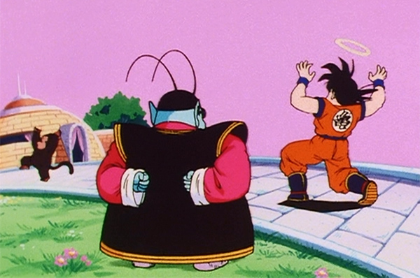 Dragon Ball Z Goku, Bubbles, and King Kai
