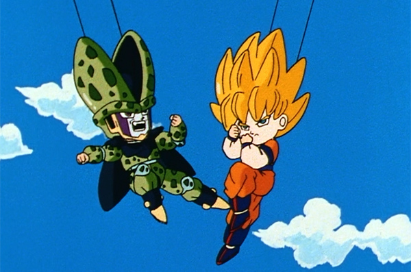 Dragon Ball Z Cell and Goku