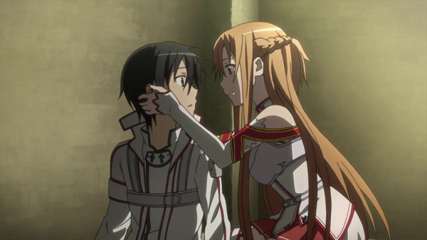 Hot Moments Sword Art Online Asuna comforts Kirito