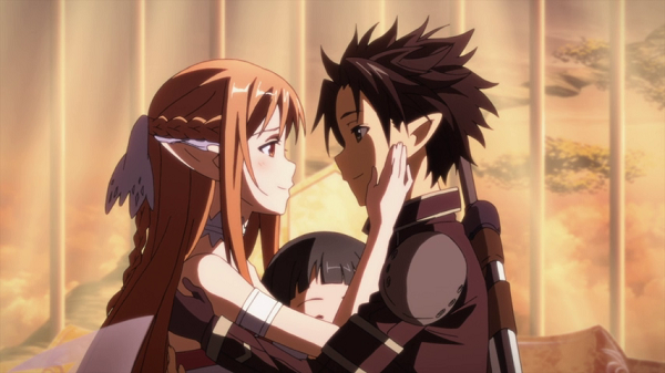 Hot Moments Sword Art Online Asuna Kirito reunion