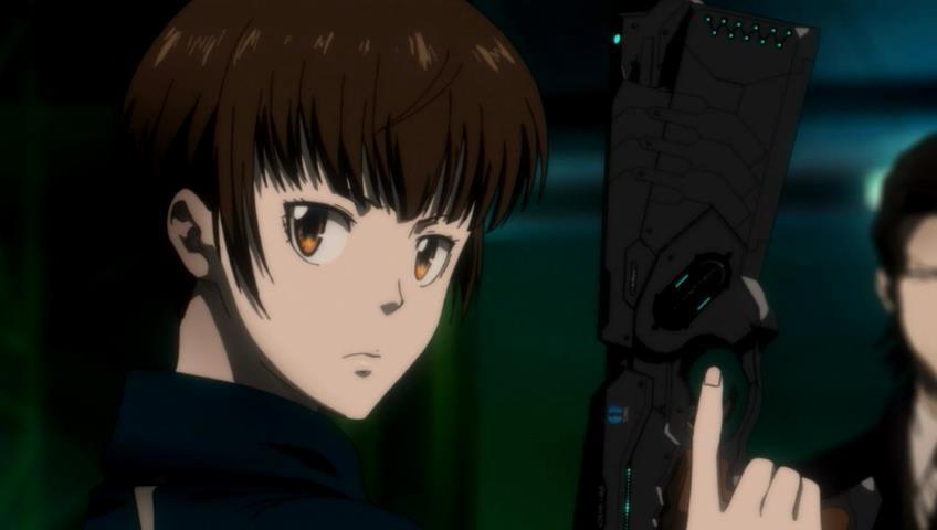 Psycho Pass Akane has a gun