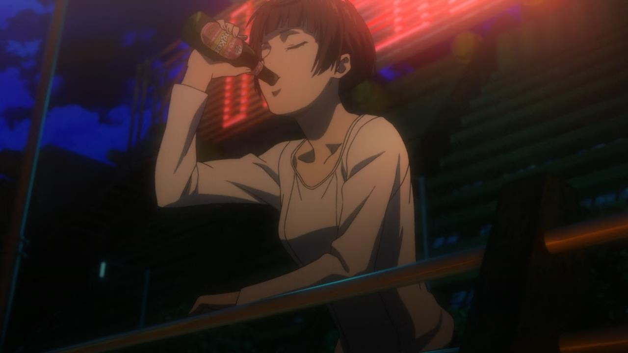 Psycho Pass Akane getting wasted