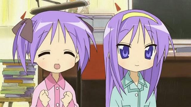 tsukasa and kagami hiiragi Lucky☆Star anime twins