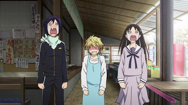 Funny Moments Noragami Yato Hiyori Yukine crying