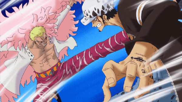One Piece Law and Doflamingo Battle