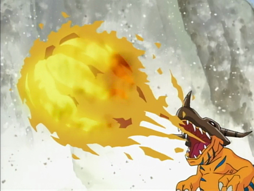 Digimon Adventure_GreymonAttack