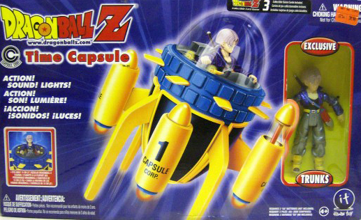Dragon Ball Z Action Figures Time Capsule Trunks