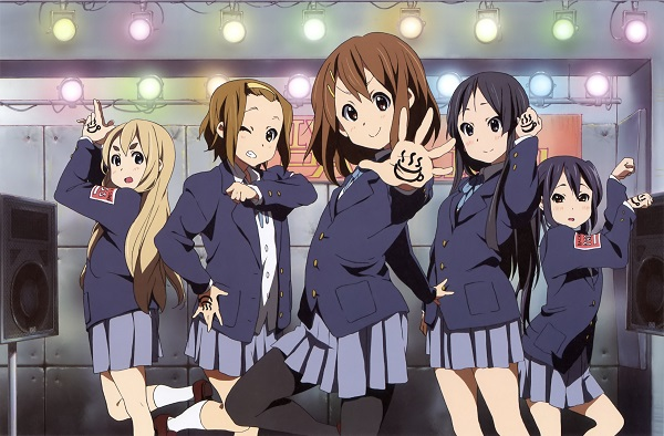 K-On girls posing as a group