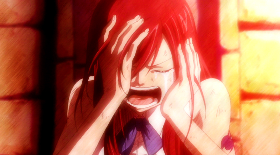 fairy tail erza scarlet crying