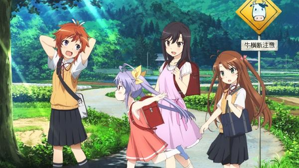 Non Non Biyor girls walking along a road