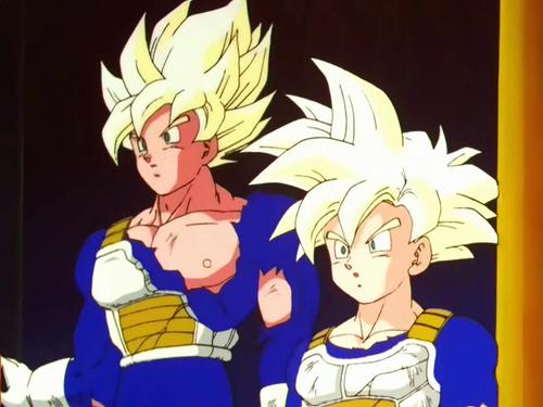 Goku and Gohan MSSJ