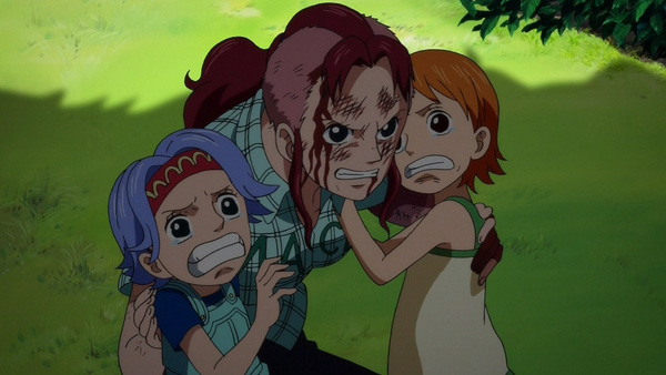 Bellemere, Nojiko & Nami - One Piece sad moments