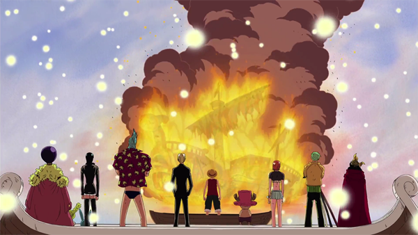 The Strawhat crew & Going Merry - One Piece sad moments