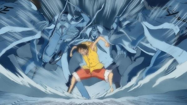 Monkey D. Luffy using his One Piece Haki - Haoshoku Haki