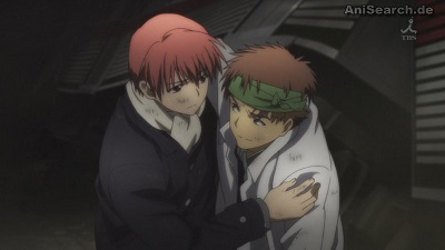 Angel Beats! Igarashi and Yuzuru Otonashi