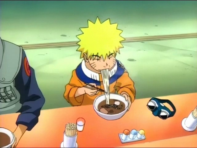 Uzumaki Naruto eating Ramen