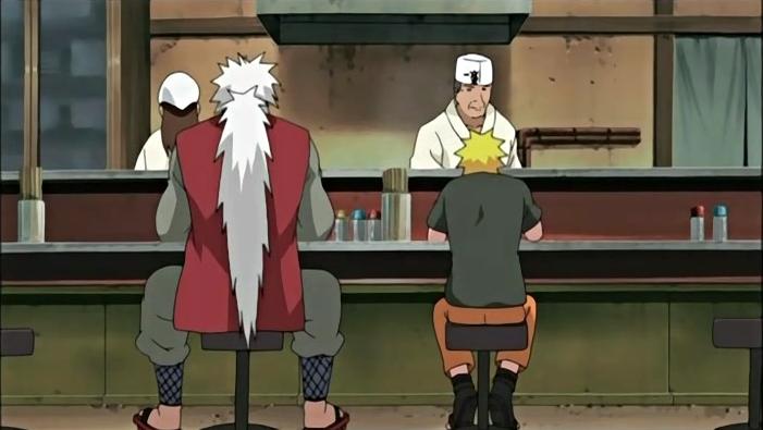 Uzumaki Naruto and Jiraiya at Ichiraku Ramen