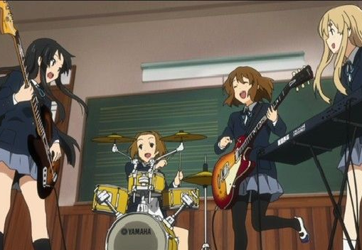 K-On! Playing together