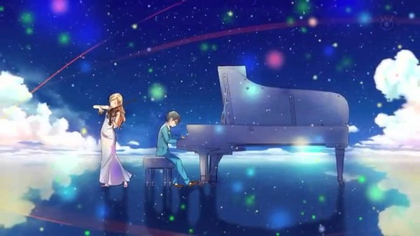 Shigatsu wa Kimi no Uso (Your Lie in April) Hikaru nara Goose House anime openings beautiful blue anime sky motif