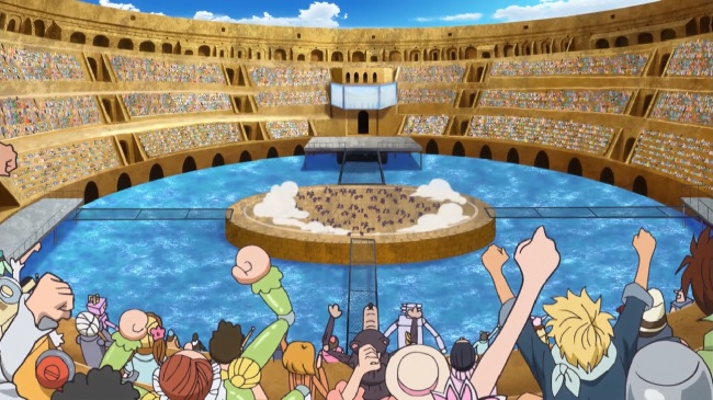 The Colosseum from the One Piece New World Saga and Dressrosa Arc