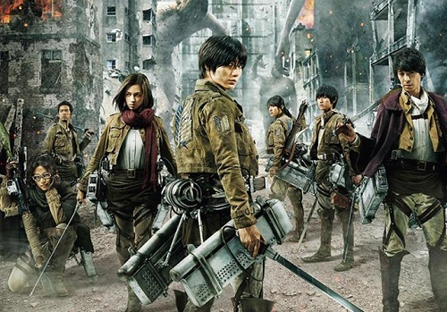 Attack on Titan: Part 2 The End of the World Cast Characters Haruma Miura and Kiko Mizuhara