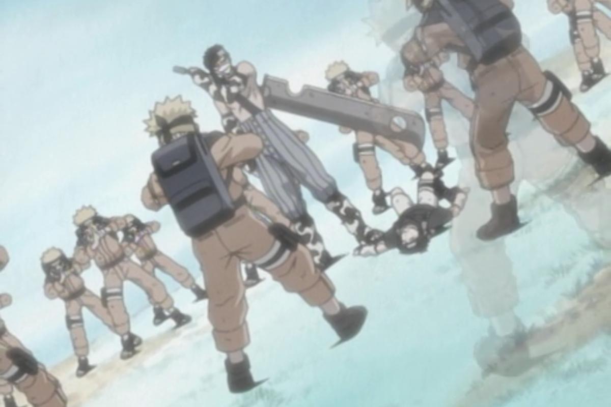 Goku vs Naruto Shadow Clones