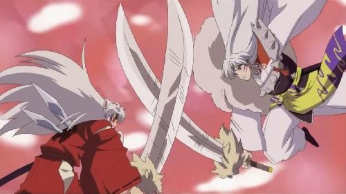 InuYasha Inuyasha and Sesshomaru Tessaiga Battle