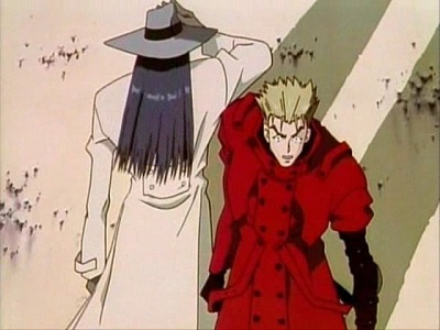 Trigun Vash the Stampede and Dominique