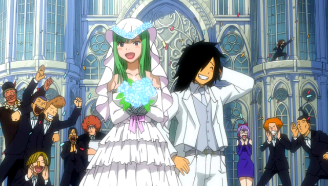 fairy tail bisca mulan and alzack connell wedding