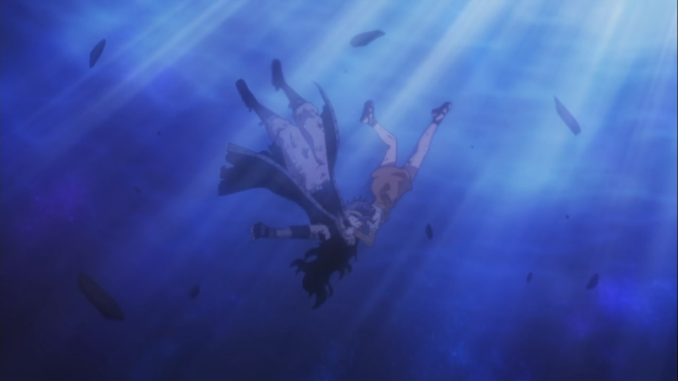 fairy tail (2014) gajeel redfox and levy mcgarden 'kiss'