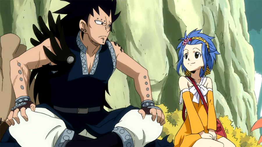 fairy tail gajeel redfox and levy mcgarden