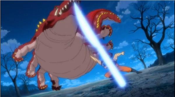 Toriko vs Luffy knife