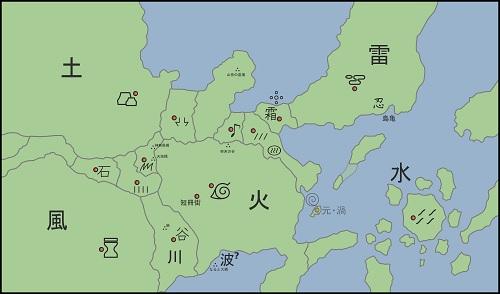 Naruto Shippuden Naruto Map