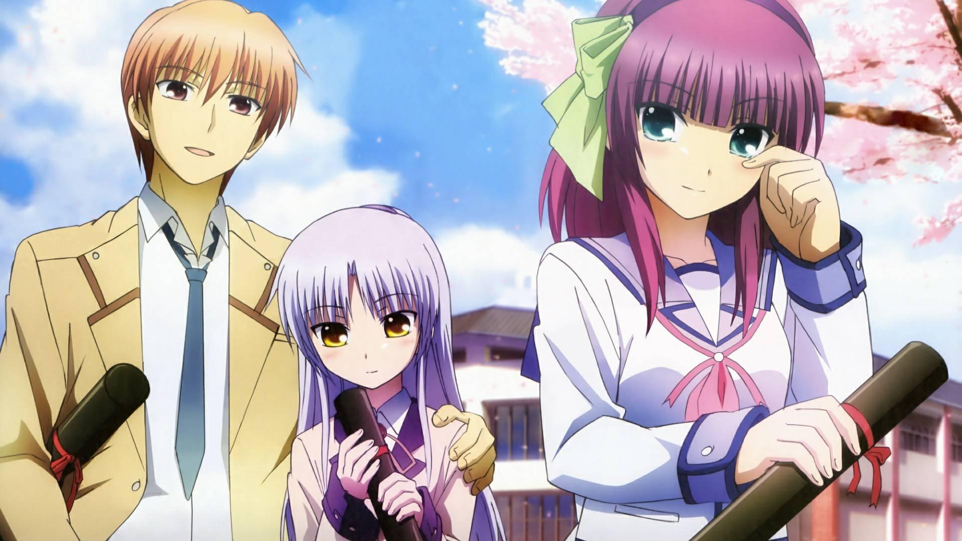 angel beats! kanade tachibana yuri nakamura and otonashi yuzuru
